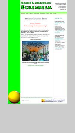 Vorschau der mobilen Webseite www.kjhe.de, Kinder- und Jugendhaus Eckenheim