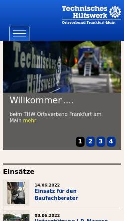 Vorschau der mobilen Webseite ov-frankfurt-main.thw.de, THW Jugendgruppe Frankfurt am Main