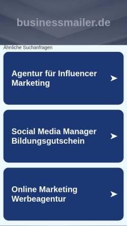 Vorschau der mobilen Webseite www.businessmailer.de, Businessmailer.de