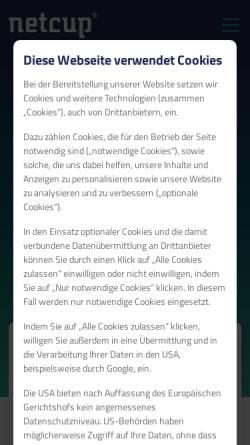 Vorschau der mobilen Webseite www.netcup.de, Netcup.de