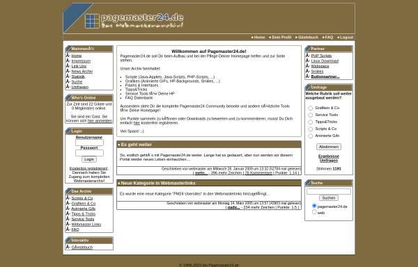 Vorschau von www.pagemaster24.de, Pagemaster24.de