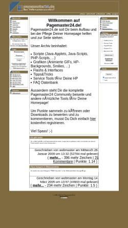 Vorschau der mobilen Webseite www.pagemaster24.de, Pagemaster24.de