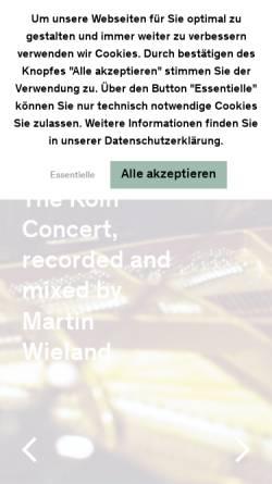 Vorschau der mobilen Webseite www.bauerstudios.de, Bauer Studios