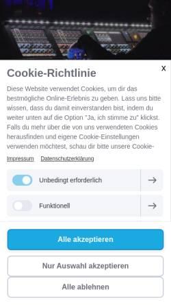 Vorschau der mobilen Webseite www.indiscreet-audio.de, Indiscreet Audio
