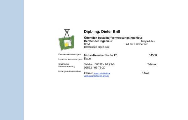 Vorschau von www.oebvi-brill.de, Dipl.-Ingenieur Dieter Brill