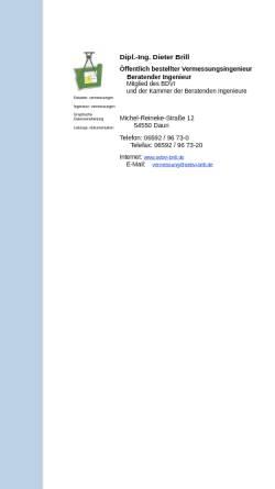 Vorschau der mobilen Webseite www.oebvi-brill.de, Dipl.-Ingenieur Dieter Brill