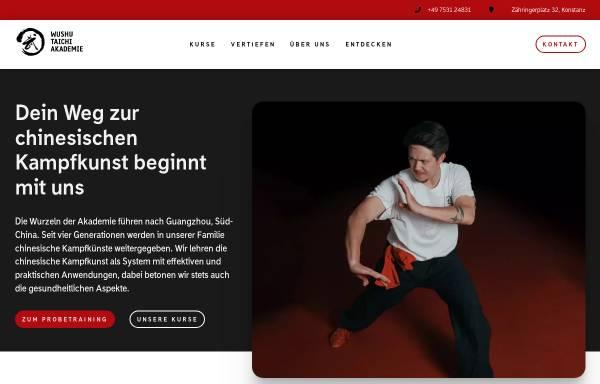 Vorschau von www.wushu.de, Deutsch-Chinesische Wu-Shu Akademie
