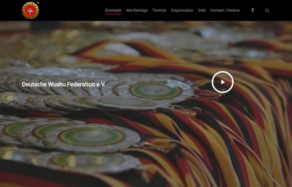 Vorschau von www.wushudwf.de, Deutsche Wushu Federation e.V.