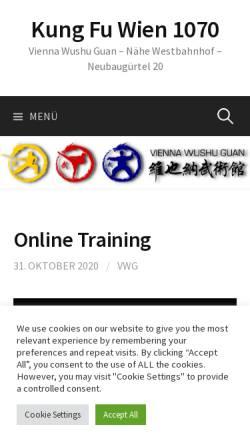 Vorschau der mobilen Webseite viennawushu.at, Vienna Wushu Guan