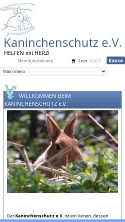 Vorschau der mobilen Webseite www.kaninchenschutz.de, Kaninchenschutz.de