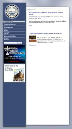Vorschau der mobilen Webseite www.lv-weser-ems.de, Landesverband der Kaninchenzüchter Weser-Ems e.V.
