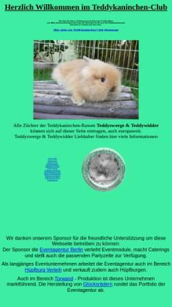 Vorschau der mobilen Webseite www.teddykaninchen-club.de, Teddykaninchen-Club