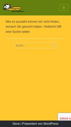 Vorschau der mobilen Webseite flumy.ch, Flumy - Priskas Zwerghasen