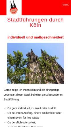 Vorschau der mobilen Webseite stadtfuehrungen-durch-koeln.de, Stadtführungen durch Köln