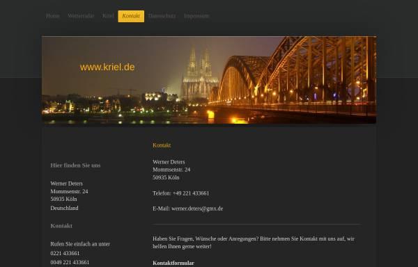 Vorschau von www.kriel.de, Wetterstation Köln-Kriel