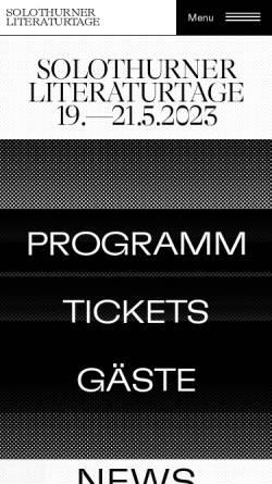 Vorschau der mobilen Webseite www.literatur.ch, literatur.ch