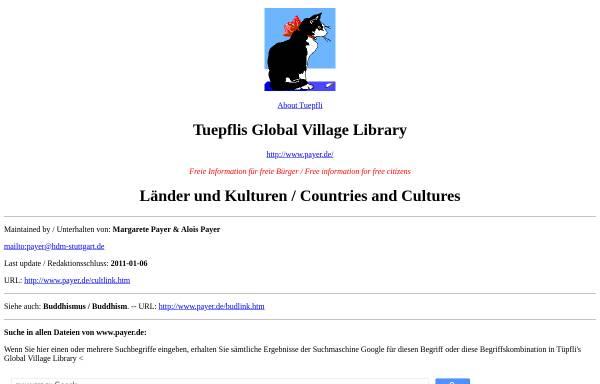 Vorschau von www.payer.de, Länder und Kulturen