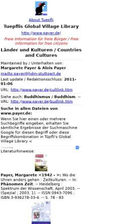 Vorschau der mobilen Webseite www.payer.de, Länder und Kulturen