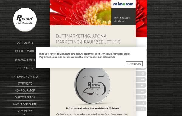 Vorschau von www.duftmarketing.de, Reima AirConcept GmbH