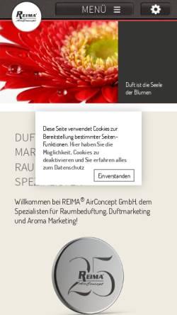 Vorschau der mobilen Webseite www.duftmarketing.de, Reima AirConcept GmbH