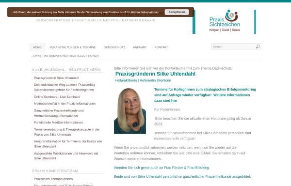 Vorschau von www.praxis-sichtzeichen.de, Silke Uhlendahl, Praxis Sichtzeichen