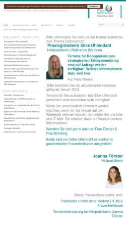 Vorschau der mobilen Webseite www.praxis-sichtzeichen.de, Silke Uhlendahl, Praxis Sichtzeichen