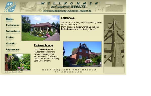 Vorschau von www.ferienwohnung-cuxhaven-voelkel.de, Ferienwohnung Völkel