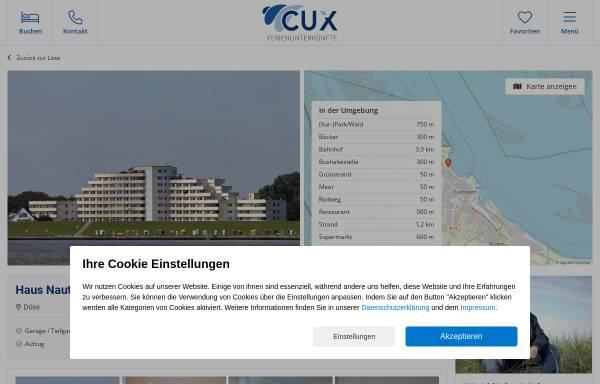 Vorschau von www.meerblick-ferienwohnungen-cuxhaven.de, Haus Nautic, Andrea Gaedke