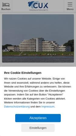 Vorschau der mobilen Webseite www.meerblick-ferienwohnungen-cuxhaven.de, Haus Nautic, Andrea Gaedke