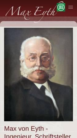 Vorschau der mobilen Webseite www.max-eyth.de, Max Eyth.de