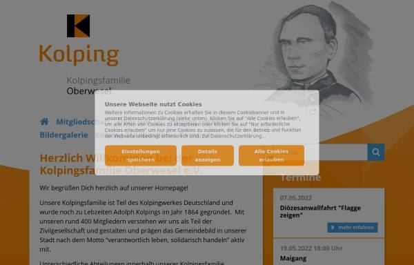 Vorschau von www.kolpingsfamilie-oberwesel.de, Kolpingsfamilie Oberwesel