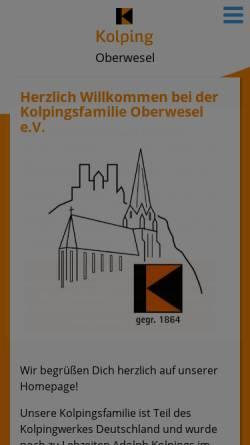 Vorschau der mobilen Webseite www.kolpingsfamilie-oberwesel.de, Kolpingsfamilie Oberwesel