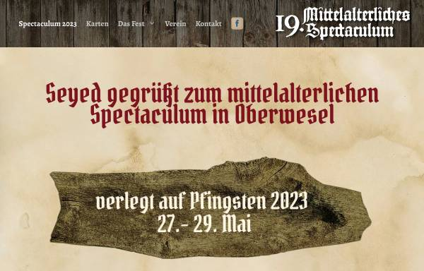 Vorschau von www.spectaculum-oberwesel.de, Mittelalterliches Spectaculum in Oberwesel