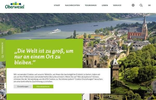 Vorschau von www.oberwesel.de, Oberwesel