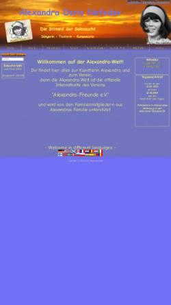 Vorschau der mobilen Webseite www.alexandra-welt.de, Alexandra