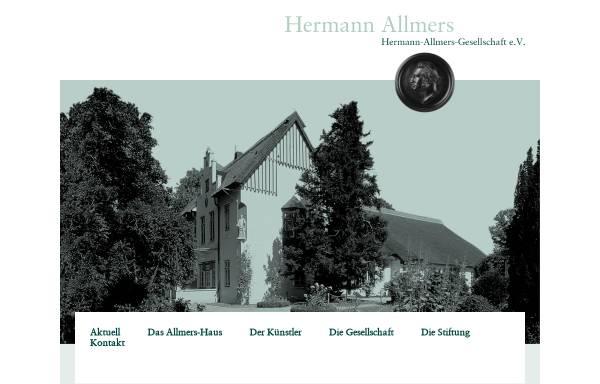 Vorschau von www.hermann-allmers.de, Hermann-Allmers-Gesellschaft e. V.
