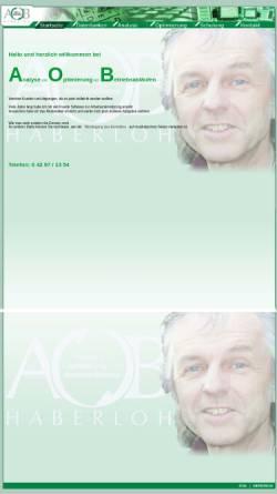 Vorschau der mobilen Webseite www.aobh.de, AOB Haberloh