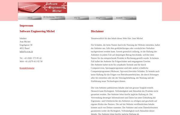 Vorschau von www.s-e-m.ch, Jean Michel Software Engineering