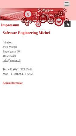 Vorschau der mobilen Webseite www.s-e-m.ch, Jean Michel Software Engineering