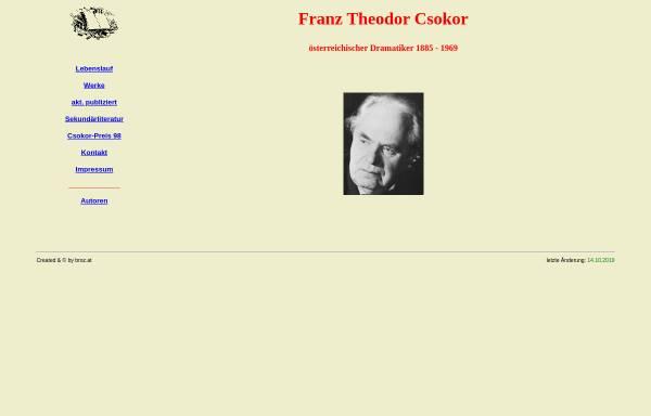 Vorschau von www.broz.at, Franz Theodor Csokor