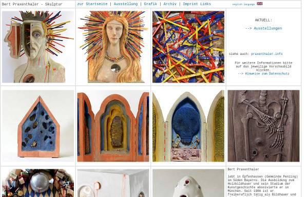 Vorschau von www.atelier.praxenthaler.de, Bert Praxenthaler, Bildhauer