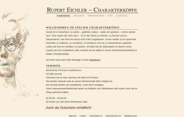 Vorschau von www.charakterkoepfe.de, Charakterköpfe aus Ton, Gips und Bronze von Rupert Eichler