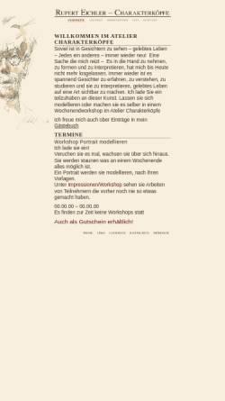 Vorschau der mobilen Webseite www.charakterkoepfe.de, Charakterköpfe aus Ton, Gips und Bronze von Rupert Eichler