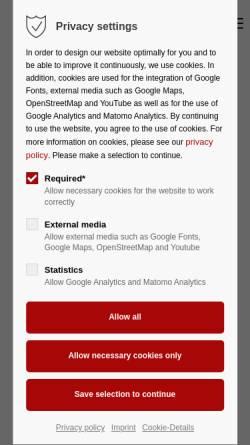 Vorschau der mobilen Webseite www.werner-pokorny.de, Pokorny, Werner