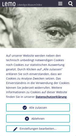 Vorschau der mobilen Webseite www.dhm.de, August Bebel, 1840-1913