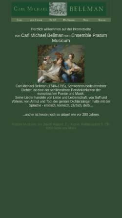 Vorschau der mobilen Webseite www.bellman.ch, Schweizer Carl Michael Bellman-Seite