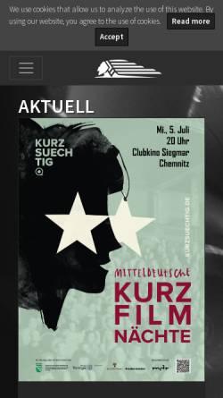 Vorschau der mobilen Webseite filmwerkstatt.de, Chemnitzer Filmwerkstatt