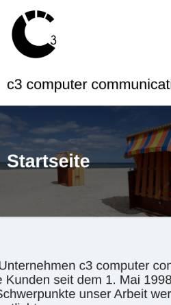 Vorschau der mobilen Webseite c3.de, c3 computer communication consulting