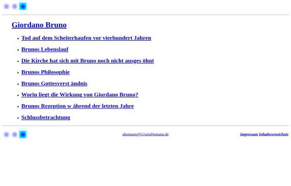 Vorschau von www.ursulahomann.de, Giordano Bruno
