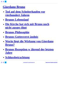Vorschau der mobilen Webseite www.ursulahomann.de, Giordano Bruno